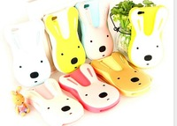 Supper Cute rabbit style Le sucre series silicon soft phone case  for iPhone 5/5S free shipping(Assorted color)