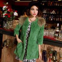 free shipping Wholesale & retail   fur coat women mink rabbit fur coat in long fur coat fur fox coat women