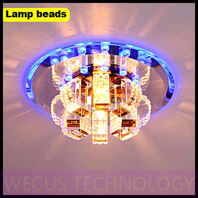 (WECUS) free shipping, new product, LED crystal aisle lights, corridor / entrance / Lobby / balcony ceiling lamps, XJ-XDD-00068(China (Mainland))