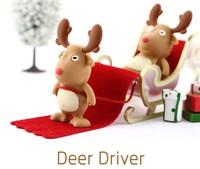 UFD0364 wholesale freeshipping Hotsale Cute  Reindeer Of Sant. Gift USB Flash Drive hotsale bear USB Flash Disk drive 4GB-32GB