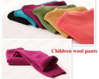 3-10 age European brand candy color kids wool pants Legging thicken children girls woolen Leggings pants 8colors