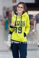 Fall Women's new 39 track suit pants fleece hooded sweater