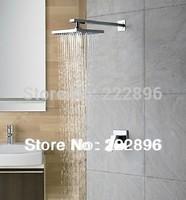 Copper Chrome Bathroom Square Shower Set Shower Faucet Bath Mixer Shower Hotels Water Tap Lanos Torneira Banheiro Chuveiro