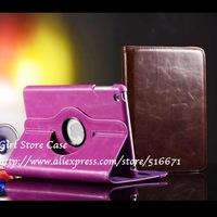 360'C ROTATING Folio Folding Case For Apple iPad Mini Luxury Sheepskin PU Leather Adjust Kickstand Cover Skin