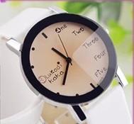 Reloj wristwatches relogio luxury brand cassio female fashion women's leather strap large dial trend vintage brief white ladies
