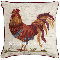 "Embroidery pillow case  home decorative cushion cover 18""x18"""