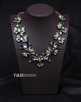 Free shipping Jc statement necklace vintage flowers resin necklace luxury jewelry for women choker necklace wholesale