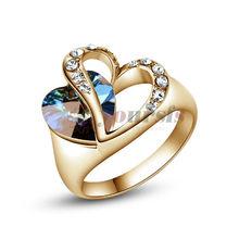 popular heart gold ring