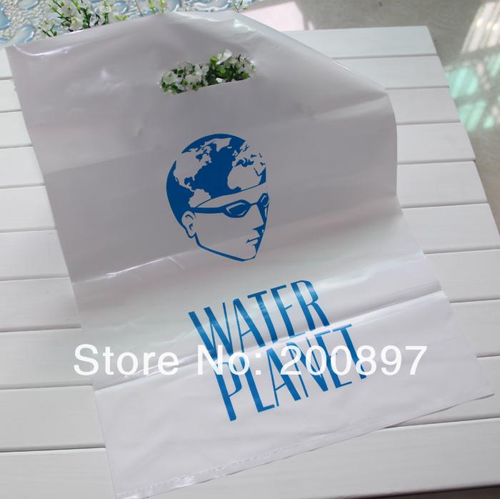 White Shopping Bag Black Handle Gift Bag White or Black