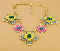 Fashion fashion accessories bohemia multicolour cross exaggerated necklace
