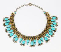 Fashion fashion accessories vintage stone short design necklace