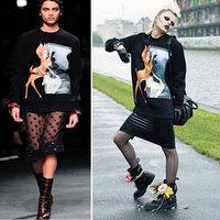 Casual Long Sleeve Loose Hoodies Sweaters Pullovers Plus Size Women Bambi Animal Print Hoodies Sweatshirt Outerwear S M L XL