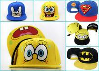 2015 New Cartoon Snapback Caps Superhero baseball caps boys hats 20pcs/lot Free shipping