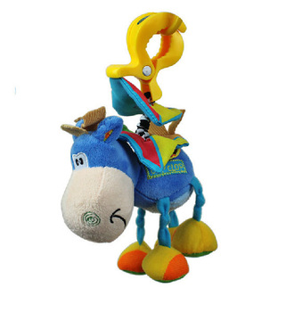 Playgro toys  little donkey bed lathe hanging rattles pull shock baby toy 0-12months free shipping