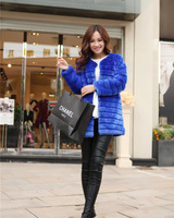 2013 new winter imitation fake fur coat Copy the rabbit fur hair  long coat  outerwear overcoat clothing luxury