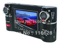 Free shipping F30 hot selling Dual lens IR Night vision 360 degree rotation car camera