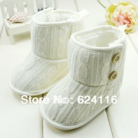 BX14 New Snow Warm Beige Knit Princess Newborn Baby First Walker Shoes Toddler Baby Girls Infant Boots