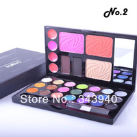 Free&Drop Shipping 2 Colors Blusher Combo Make Up Kit Eyebrow Cream Eyeshadow Blush Palette Set LKH59(NO 1/NO2)