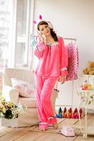 nightgown Herfair lounge set Pink bottom white pajamas, deep pink tracksuit sleepwear