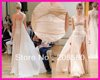 Zuhair Murad One Sholder Lace Split Front Chiffon Formal Celebrity Evening Dresses Prom Gowns E4612