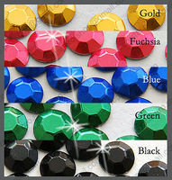 7200 pieces ( 5 colors ) 3mm 10ss ss10 Faceted Hotfix Rhinestuds Iron On Round Beads new Aluminum Metal Art Bulk DIY (u3m-Big N)