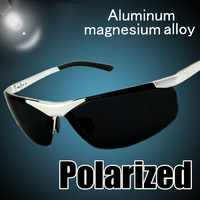 Free Shipping! Aluminum Magnesium Alloy Cycling Driver Fishing Mirror Men Shock Resistance Sport Polarized Sunglasses 120-0041