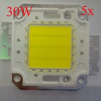 5pcs/lot 30W LED Chip 3000LM~3600LM White/Warm white 45*45 mil for LED Bulb Lamp Light 188986 + Free Shipping