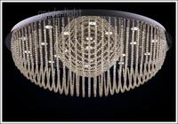 "D40cm/15.7""Fashion cognac color crystal absorb dome light piecewise Remote control"