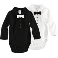Retail Free Shipping New Year Baby  Gentleman Bodysuits FIt  3-18 Months Children/kids Cotton Long Sleeve Briefs Suit
