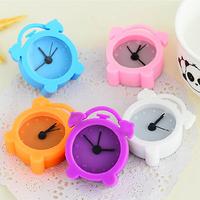 Min order $10 (mix order) free shipping fashion new candy color mini alarm clocks dreamy rainbow lazy carry small alarm clock