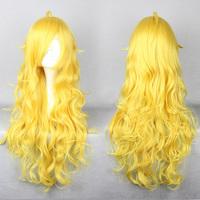 RWBY Yellow Trailer Yang Xiao Long Freestyle Golden Blonde Cosplay Wig Free CAP