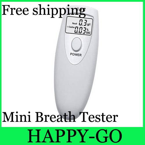 100pcs/lot Mini Portable Breathalyzer Breath Tester Alcohol Tester Digital Analyzer LCD(China (Mainland))