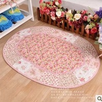 FreeShipping 100% Cotton Floral Country Quilting Mats Door Doormat Table Mats Rustic Slip-Resistant Cloth Pad Mat  1Pcs Pink