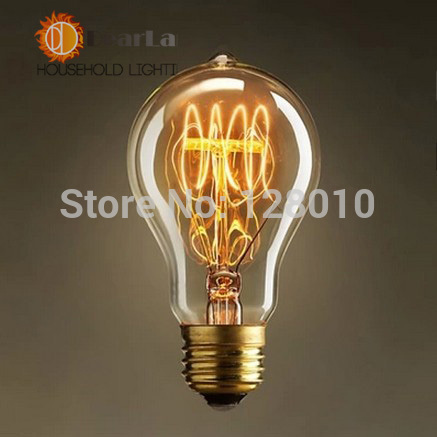 A19 Edison Bulb E27 Incandescent Vintage Light Bulb,Household/Bar/Coffee Shop/Hotel /Dress Shop Retro/Classic/ Light Bulbs(China (Mainland))