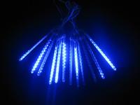 Free Shipping! Retail !White 60CM 108LEDs Double Sided LED Meteor Rain Light/ Christmas Light