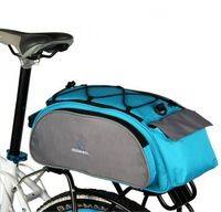 Cycling Bicycle Bike Pannier Rear Seat Bag 13L Rack Trunk Shoulder Handbag Black or Blue
