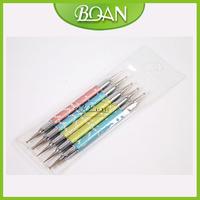 Free Shipping 2014 New Arrivel nail dotting knit  Nail Art Dotting Tool 5 pcs/set