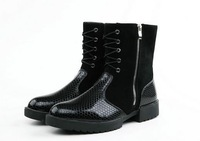 Man winter snow boots high boots man the trend of casual cotton-padded shoes cotton martin boots high shoes JL19