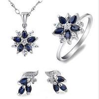 Jewelry sets,sapphire gems pendants,rings,earrings,sterling silver 925,wedding gift,SP0286S SE0004S SR1575S