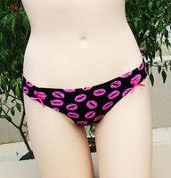 PINK  Wholesale Hot Lip Print VS Low Rise Panty Thong Sexy Pure Cotton Women's Briefs