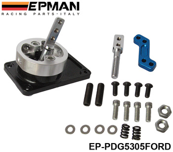 EPMAN ALUMINUM RACING SHORT THROW SHIFTER FOR 83-04 FORD MUSTANG T5 T-45 W/OD BLACK EP-PDG5305FORD