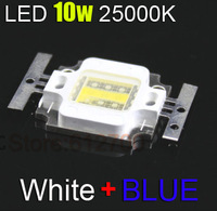 Free Shipping 30pcs/Lot LED Light-Emitting Diodes, LED Aquarium Light Lamp bead High Wavelength 25000K Blue + White Light LED 1