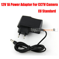 Free Shipping High Quality AC 100-240V To DC 12V 1A EU Plug Power Supply Adapter Charger For CCTV Camera DC 5.5mm*2.1mm