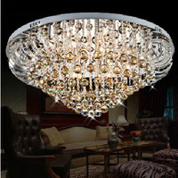 "Dia58CM/22.8""cognac color crystal Ceiling lamp 2Section-remote control"