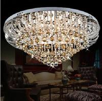 "Dia58CM/22.8""cognac color crystal Ceiling lamp 2Section-remote control"