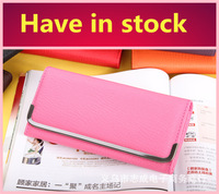 HOT sale Free shipping 6 colors fashion lady wallets, pu leather wallets women purse-001