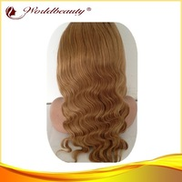 (free shipping+gift+best quality)bodywave lace front wig ombre twotone hair color virgin malaysian human hair half lace wig