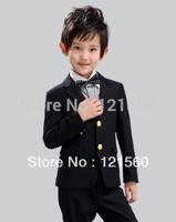 Free shipping Fashion suits for boys wedding blazer baby boy Coat + pants + shirt+ bow tie  = 4  sets