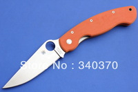 High Quality,Spyderco C36GPOR Folding Knife,CPM-S30V Blade,Orange G10 Handle,Hunting Pocket Knife,Camping Knife,Free Shipping
