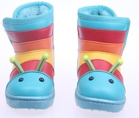 2013 Newest Style Child SnowBoots Waterproof With Cute Animal Design For Girls Or Boys 3 Color Free Shipping